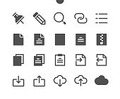 15 File v2 UI Pixel Perfect Well-crafted Vector Solid Icons 48x48 Ready for 24x24 Grid for Web Graphics and Apps. Simple Minimal Pictogram