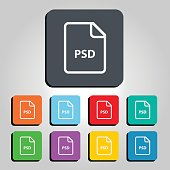 PSD File Vector Icon Illustration