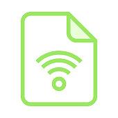 file wifi colour line vector icon