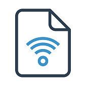 file wifi thin colour line vector icon