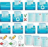 Files and folders icon set (Vector)
