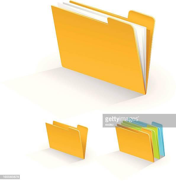 ファイルのフォルダ - リング式ファイル点のイラスト素材/クリップアート素材/マンガ素材/アイコン素材