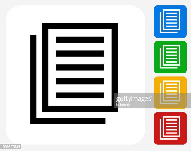 files icon flat graphic design - photocopier stock illustrations, clip art, cartoons, & icons