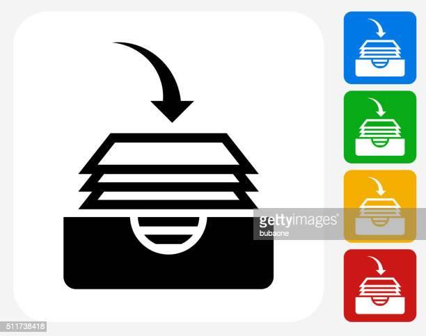ファイルのグラフィックデザインアイコンフラット - トレイ点のイラスト素材/クリップアート素材/マンガ素材/アイコン素材