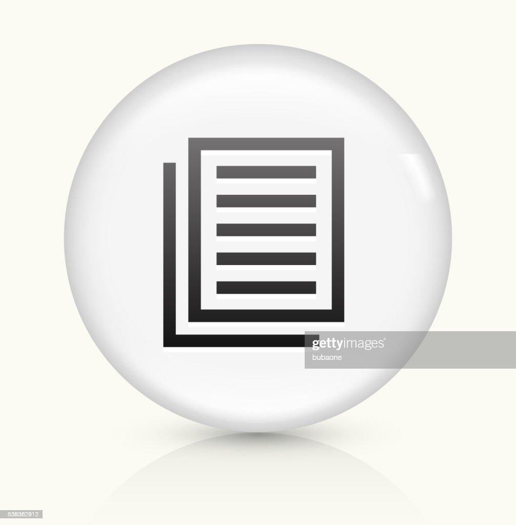 Files icon on white round vector button