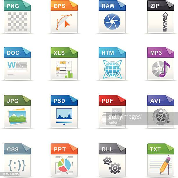 filetype icons - html stock illustrations, clip art, cartoons, & icons