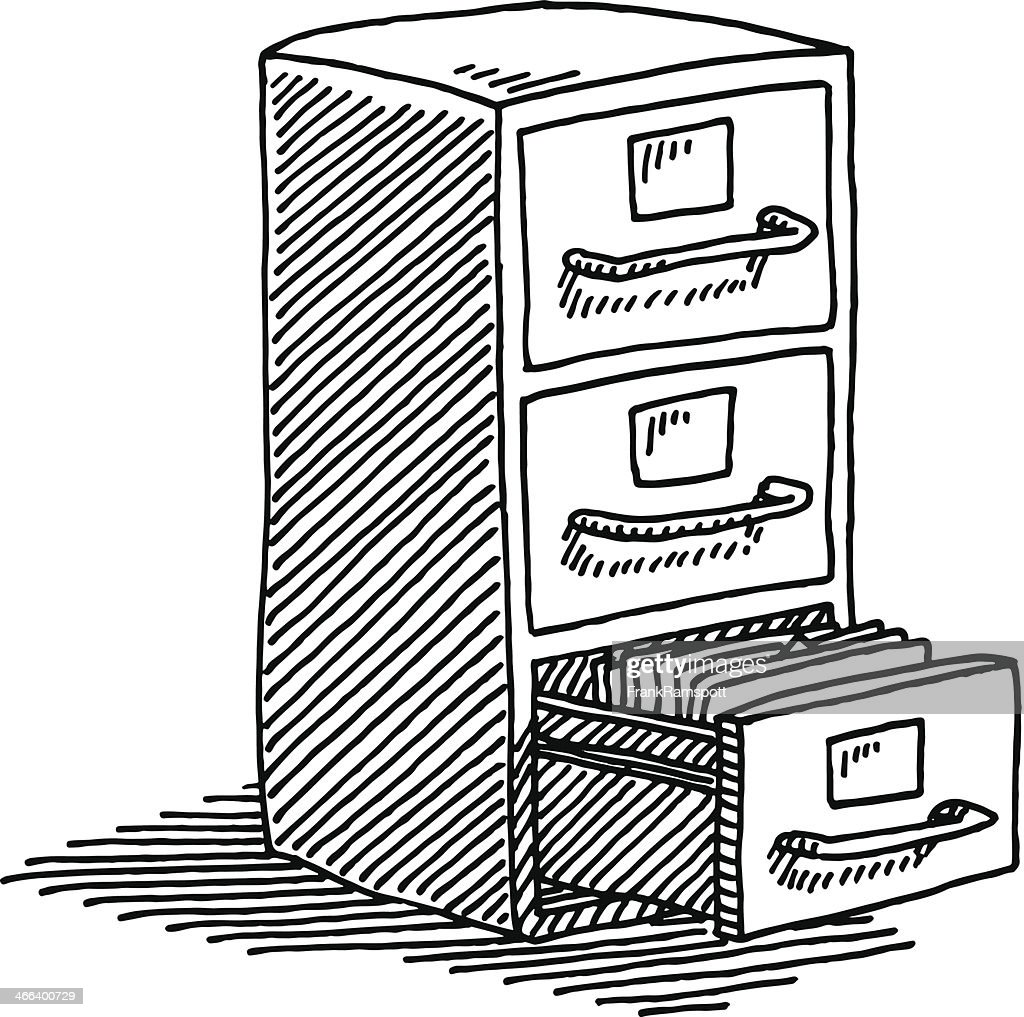 Filing Cabinet Drawing