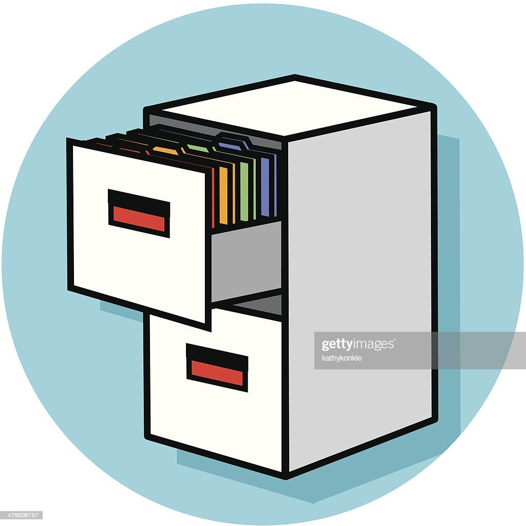 File Cabinet Clip Art: Filing Cabinet Icon Vector Art