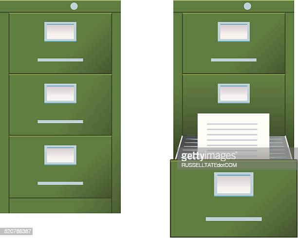 filing cabinet - filing cabinet stock illustrations, clip art, cartoons, & icons