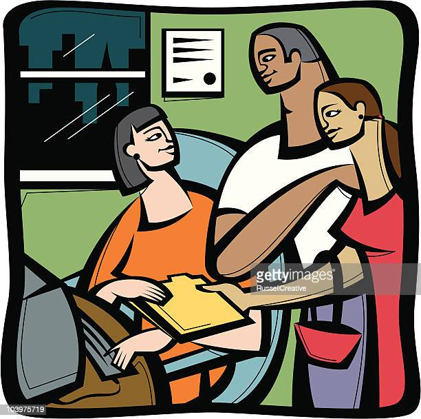 filing taxes or handing over documents - filing documents stock illustrations, clip art, cartoons, & icons