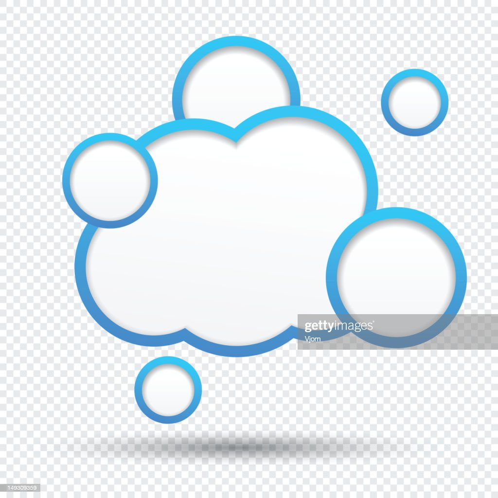 fill in your own cloud speech bubbles template vector art getty images