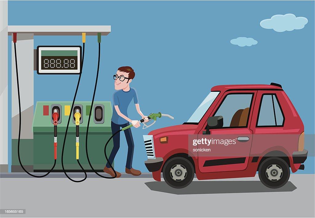 fill up of gasoline : stock illustration