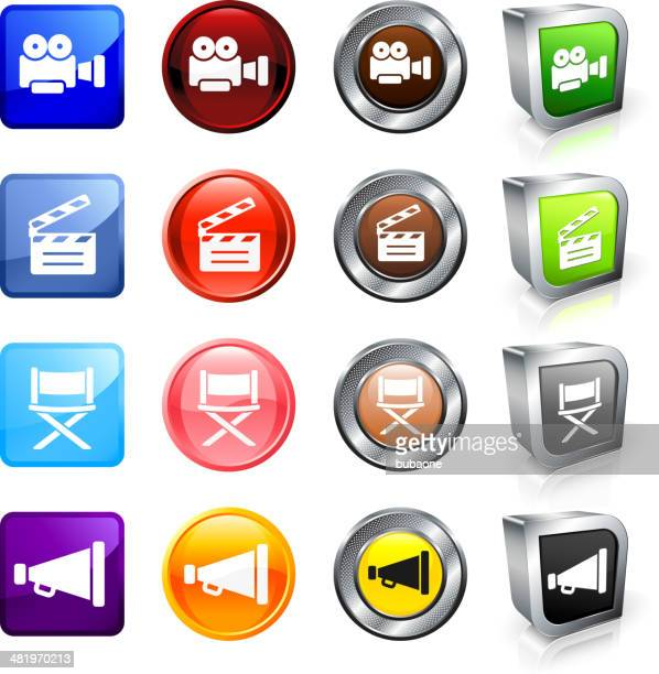 Film and Industry royalty free vector button set