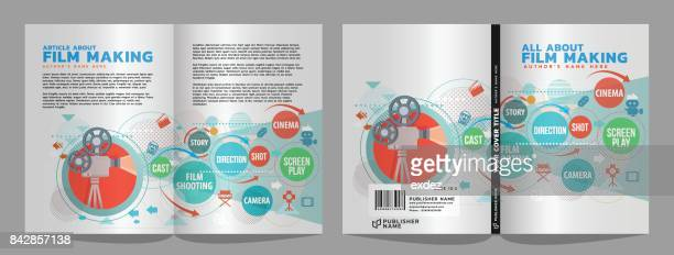 film book cover & article design - film script stock illustrations, clip art, cartoons, & icons