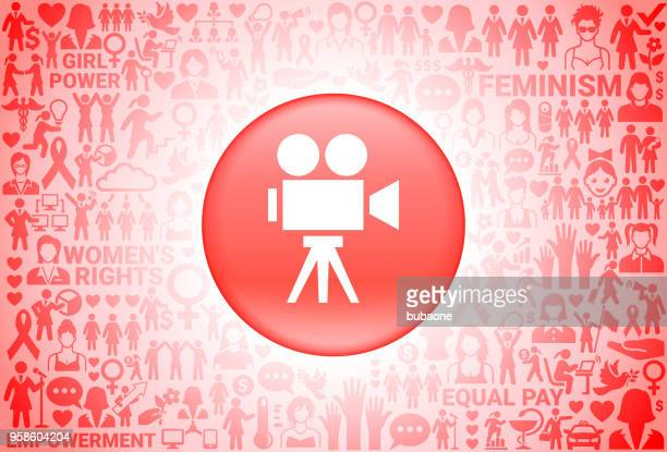 film camera  girl power women's rights background - camera stand stock illustrations, clip art, cartoons, & icons