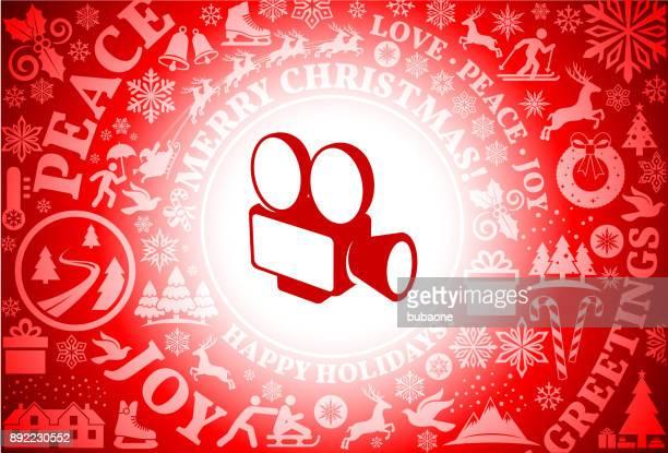 フィルム カメラの赤いクリスマス休日の背景 - bright 2017 film点のイラスト素材/クリップアート素材/マンガ素材/アイコン素材