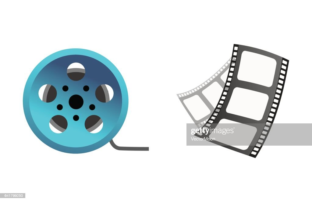 Film cinema technology vector illustration