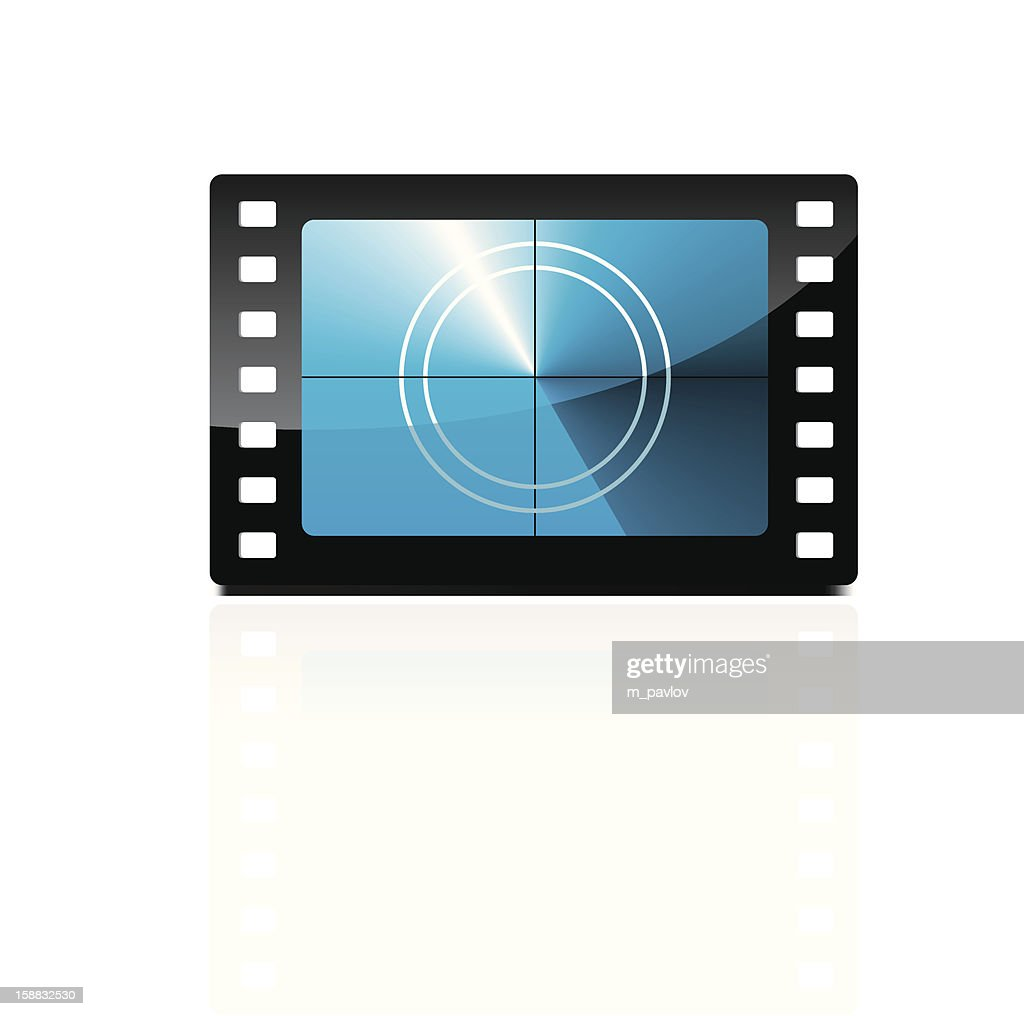 A film countdown in blue and black