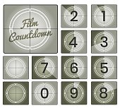Film countdown vintage frames