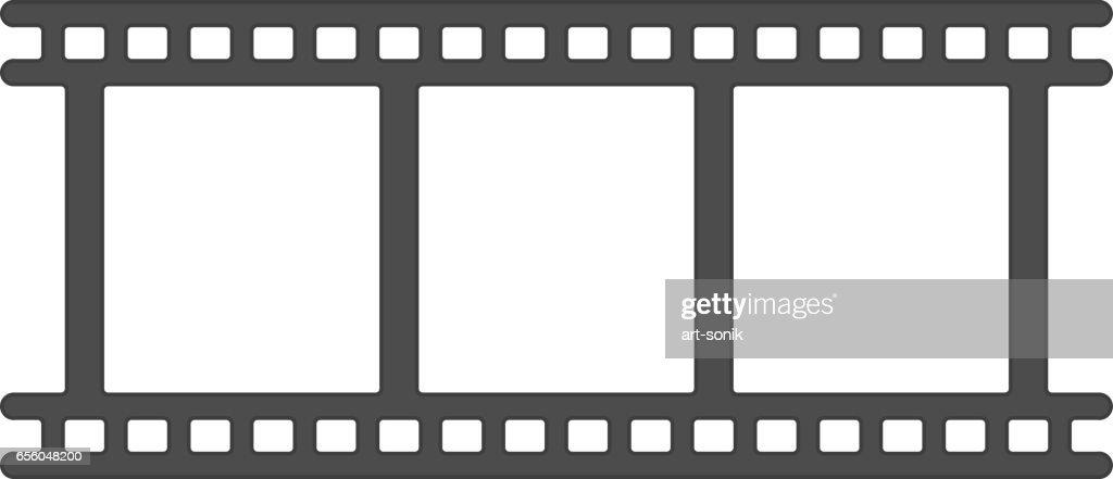 Film icon vector.