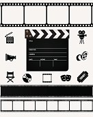 Film icons and elements.