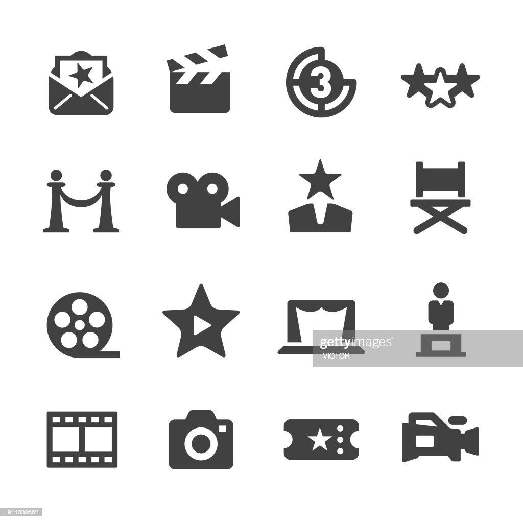 Film Industry Icons - Acme Series : stock illustration