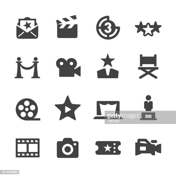 film industry icons - acme series - film industry stock illustrations