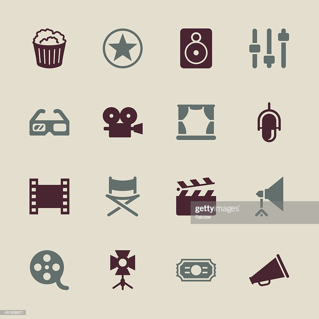 Film Industry Icons - Color Series | EPS10 : stock illustration