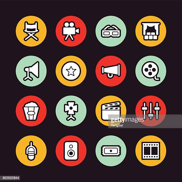 Film Industry icons - Regular Outline - Circle