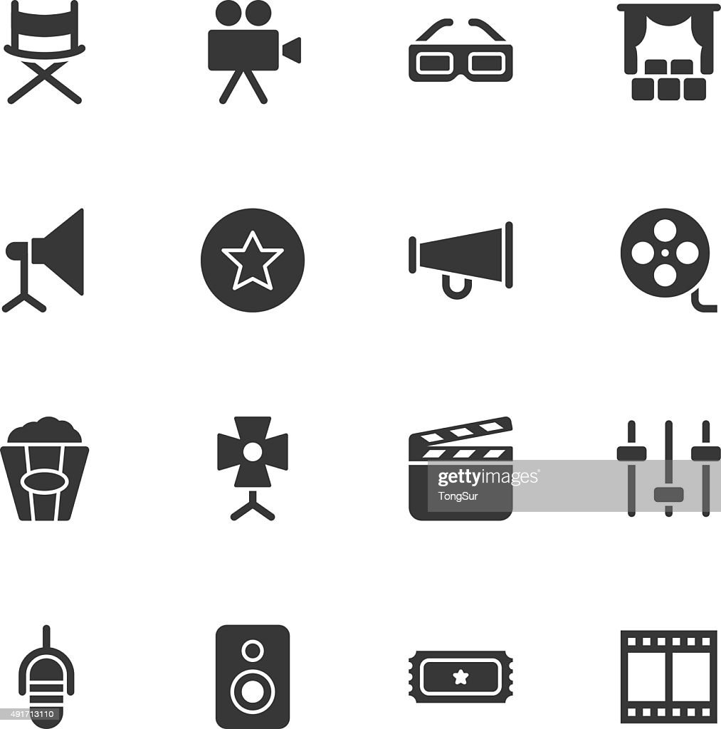 Film Industry icons - Regular : stock illustration