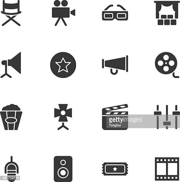 film industry icons - regular - film studio stock illustrations, clip art, cartoons, & icons