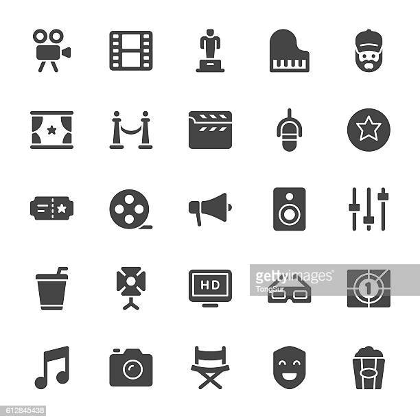 film industry icons - video camera stock illustrations, clip art, cartoons, & icons