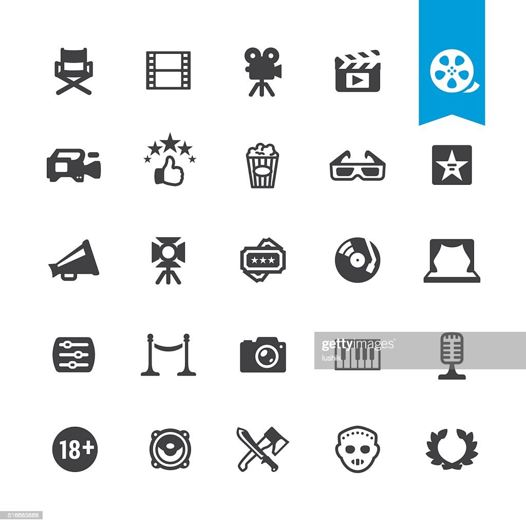 Film industry & Movies vector sign and icon : stock illustration