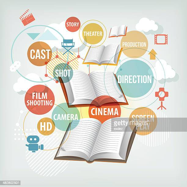film making study concept - producer stock illustrations, clip art, cartoons, & icons