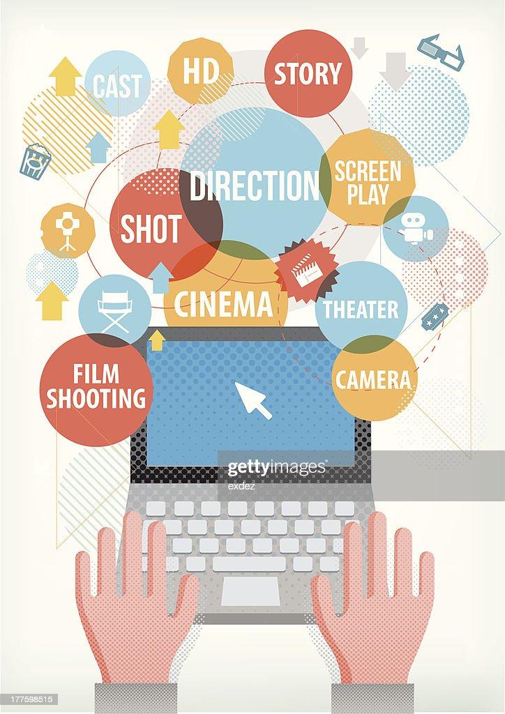 Film making terms on laptop