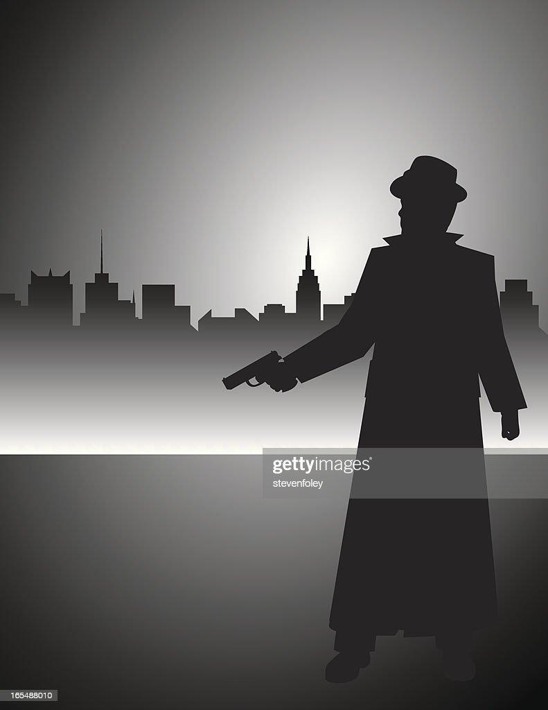 Film Noir Detective Gunman