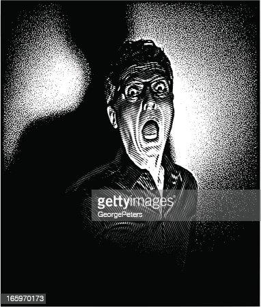 Film Noir Scream stock illustration - Getty Images