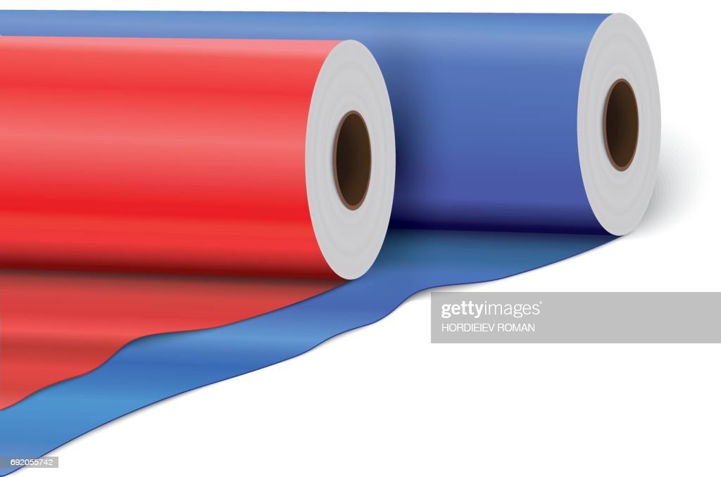 PVC film plastic film or foil, isolated on white background
