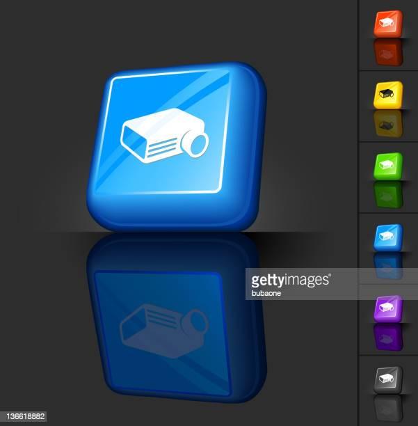film projector 3D button design