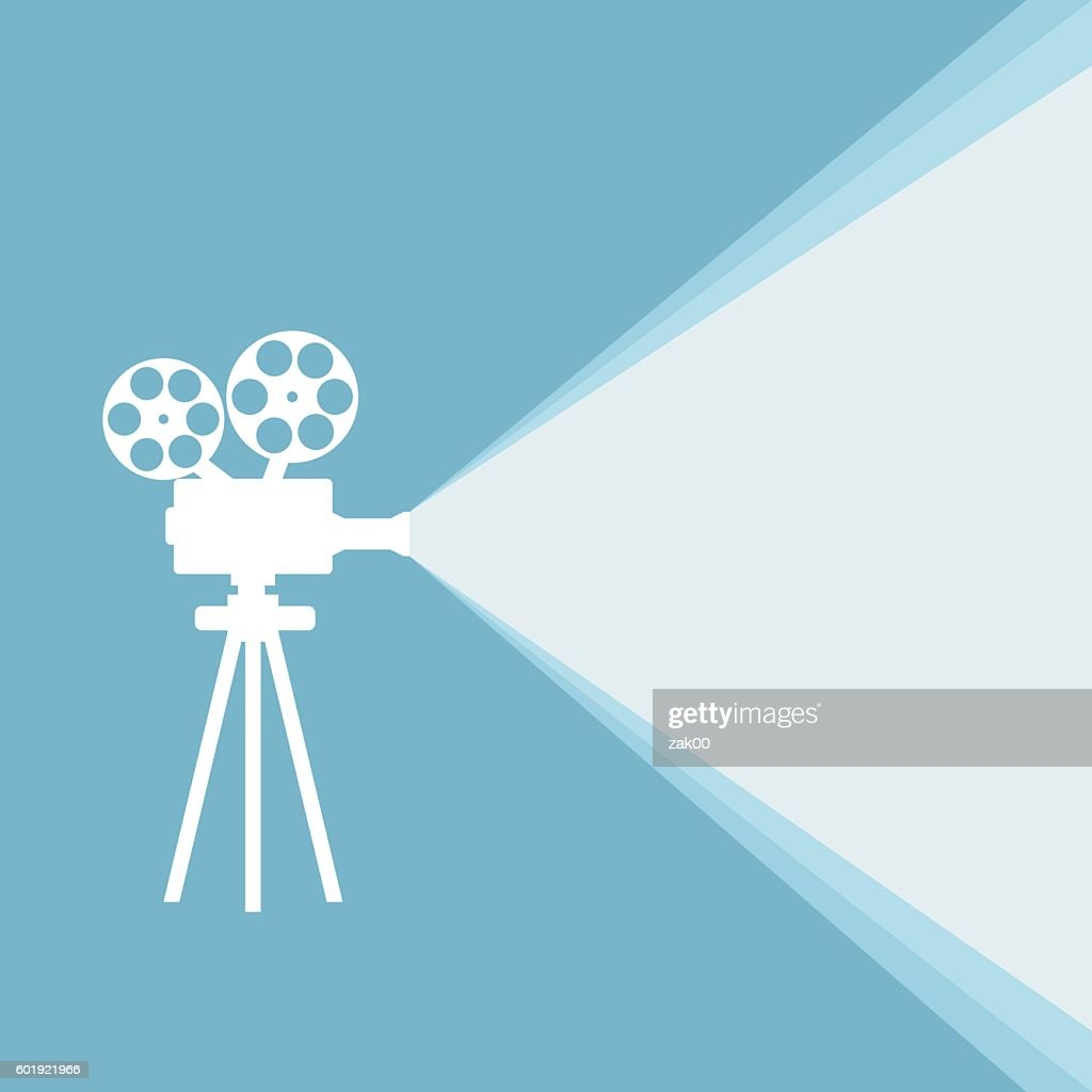 Film projector : stock illustration