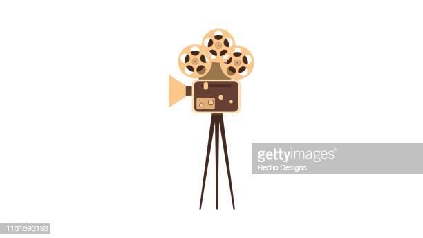 Film projector, vintage camera icon