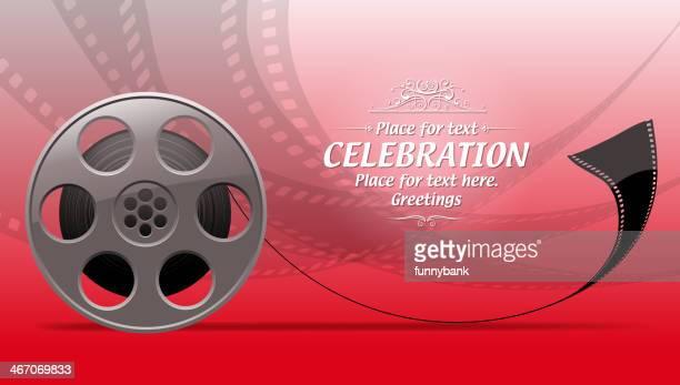 ilustraciones, imágenes clip art, dibujos animados e iconos de stock de backround carrete de película - rollo de cine