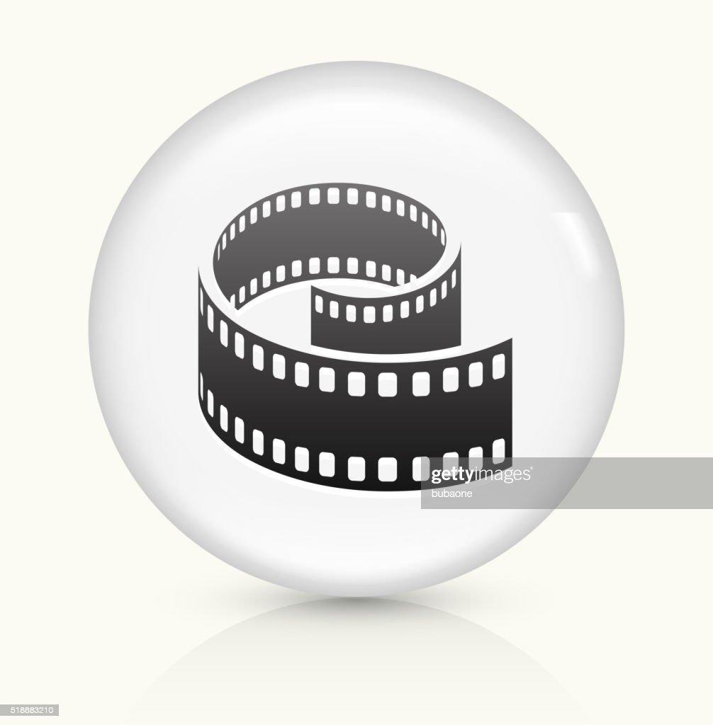 Film Reel icon on white round vector button