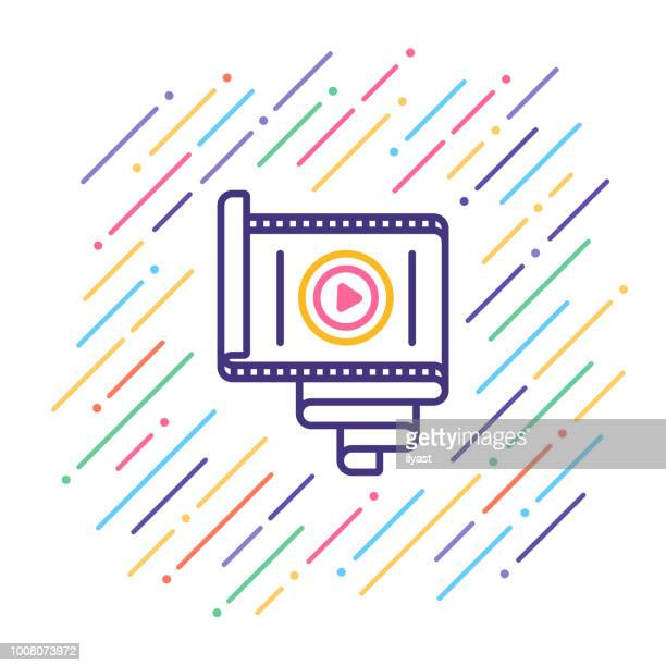 Film Reel Line Icon