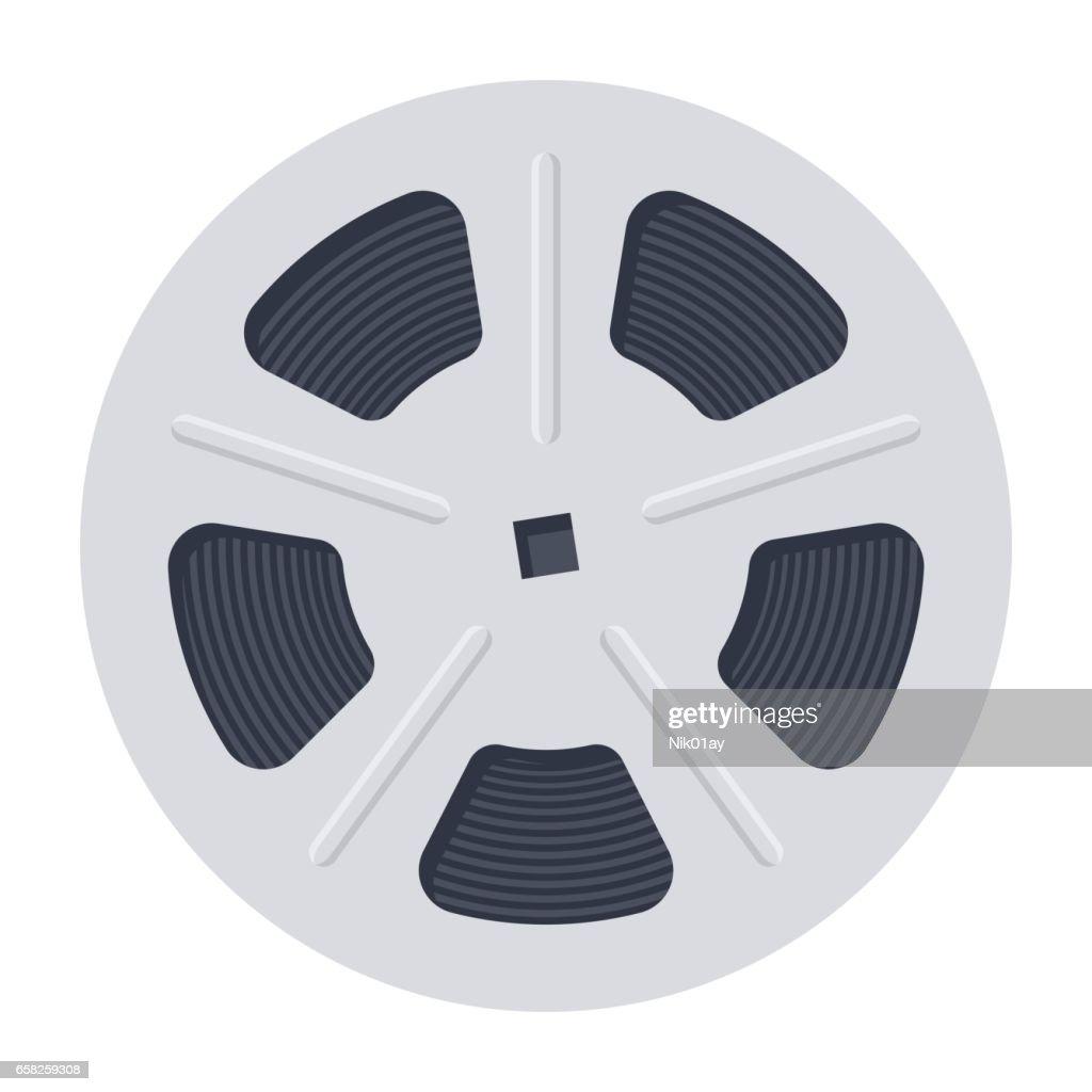 Film Reel Vector Icon
