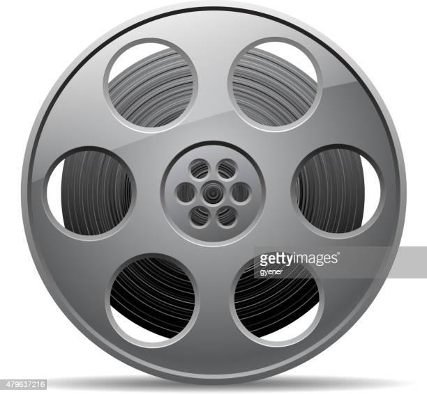 ilustraciones, imágenes clip art, dibujos animados e iconos de stock de cinta de película - rollo de cine