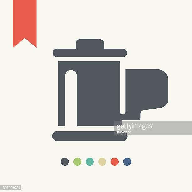 ilustraciones, imágenes clip art, dibujos animados e iconos de stock de icono de rollo - rollo de cine
