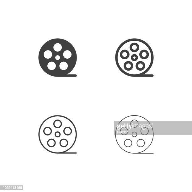 film roll icons - multi series - film premiere stock illustrations