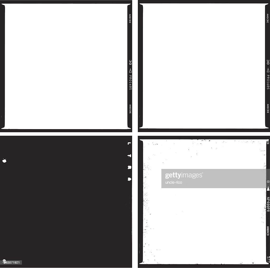 film scans medium format square trace : stock illustration