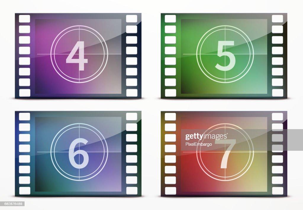 Film screen countdown